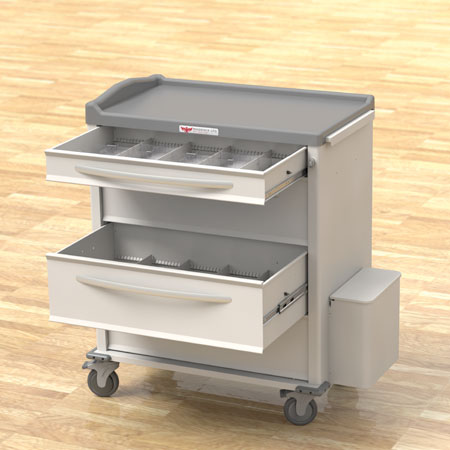 Phoenix Series Med Cart Drawer Options
