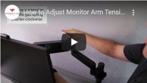 Adjust Monitor Arm Tension