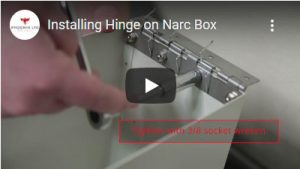 Installing Hinge on Narc Box