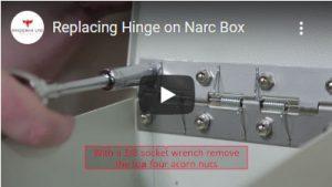 Replacing Hinge on Narc Box